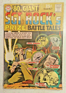 80 Page Giant #7  ! DC 1965  ! SGT ROCK ! VERY NICE PAGES but... hayfamzone