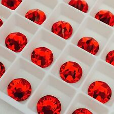 SWAROVSKI CRYSTALS 100 x SS16 rhinestones diamantes flatbacks GLUE ON #2088 RED