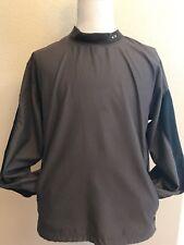 OAKLEY Mens Lightweight Windbreaker Sport Jacket Size L Brown Long Sleeve Vented