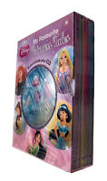 Disney Princess Read Along 5 Book Box Set + CD Mulan Brave Tangled Hardback  New