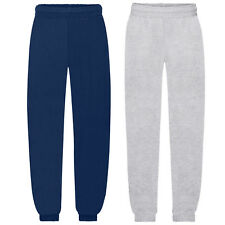 FRUIT OF THE LOOM KIDS ELASTICATED HEM JOG PANTS JOGGERS TRACKSUIT BOTTOMS SS15B