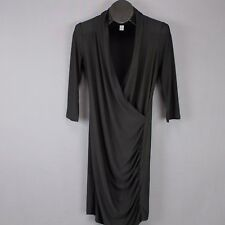 f9bd02d0469 Forever 21 Dress Size Medium Black Womens Mini Faux Wrap Surplice Ruched