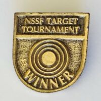 NSSF Target Tournament Winner Volleyball Authentic Pin Badge Rare Vintage (J11)