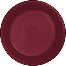 "Burgundy 7"" Plastic Desert Plates 20 Pack Burgundy Party Supplies Decorations"