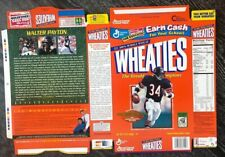 Wheaties, Walter Payton, Large box, excellent, flat, Never Had Cereal In Them