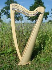 Roundback Harfe Esche 34 Saiten Neu + Tasche + 2 Stimmschlüssel