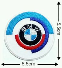 BMW Power 5.5cm  Motorcycle  Patches Logo Embroidery Iron on ,Sewing on Clothes