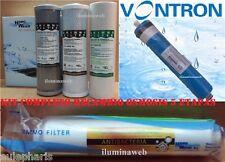 Kit Osmosis MEMBRANA+4 FILTROS ANTIBACTERIAS Carbon 5μ+1μ+Sedimentos+Postfiltro