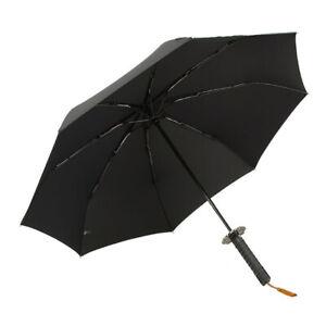 Automatic Open Sword Handle Parasol Sun Rain Katana Shape Folding Umbrella New
