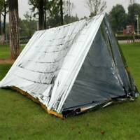 Emergency TENT Survival Folding Camping Rescue Reflective Shelter Blanket Bag JK