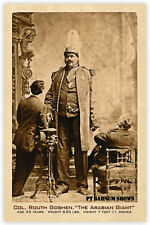 COL. ROUTH GOSHEN 7' 11' The Arabian Giant ca.1878 PT Barnum Circus Sideshow