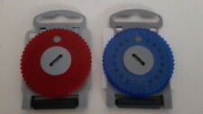 2x Cerumen Filter HF4 Blau/Rot für Hörgeräte NEU