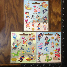 JAKE AND THE NEVER LAND PIRATES BY DISNEY, 3 LITTLE SHEETS OF STICKERS, #JAKE201