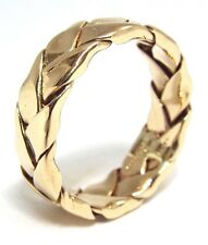 HEAVY Solid 14k Yellow Gold Weave Braid Ring Size 9.5