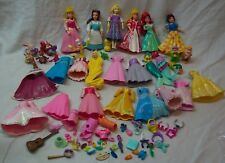 Walt Disney LITTLE DRESS UP PRINCESSES WITH OUTFITS ACCESSORIES TOY FIGURES LOT