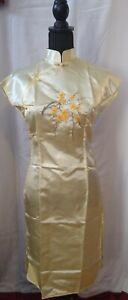 Vintage Silk Ladies Embroided Dress size M.