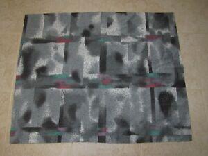 Gray & Black Vintage Pillow Sham by Dan River 80's 90's Standard Dot Splatter