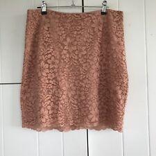 H&M Peach Lace Skirt Size 12