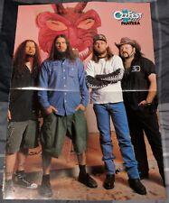 PANTERA / DIMEBAG DARRELL / VINNIE PAUL / 90'S 4 PAGE MAGAZINE POSTER + FREE DVD