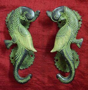 Bird Design Decorative Door Handle Pair Parrot Theme Handmade Brass Decor VR433