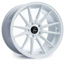 Cosmis R1 18x9.5/10.5 5x114.3mm +35/30 White Rims Fits 350Z 370Z 240Sx G35 Coupe