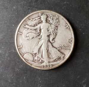 (1) Walking Liberty Half Dollar - 1936-D - 90% Silver - Very Fine