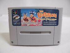 SNES -- THE FLINTSTONES -- Super famicom. Japan game. Work fully. 14320