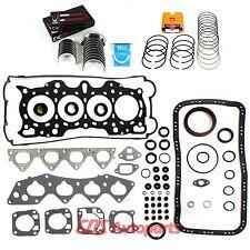 Acura Integra 1.8L Engine Re-Ring Kit B18A1 B18B1 Full Gasket Set Bearings Rings