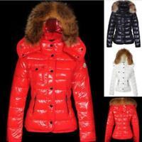 a060ade579277c Daunenjacke Kapuze Winter Warm Damenmantel Ski Pelzkragen Verdicken Parka  coat