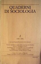 QUADERNI DI SOCIOLOGIA N. 2 1980-81 SOCIOLOGIA DEL POSITIVISMO ITALIANO EINAUDI