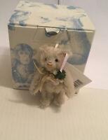 Steiff 035302 Teddy mit Christrose Ornament, OVP