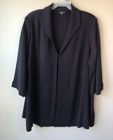 Exclusively MISOOK Size 3X Acrylic Open Front Knit Cardigan Jacket Navy Blue