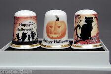 Happy Halloween Boxed Set of 3 China Thimbles