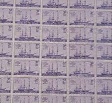 #923 3 cent First Steamship to Cross Atlantic Full Mint SHEET OF 50 MNH OG