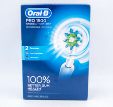 NEW Oral-B Pro 1500 Rechargeable Electric Toothbrush -  D501.513.2 - White