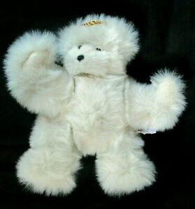 Annette Funicello Angel Bear Gold Wings Stuffed Animal Plush Teddy Ivory