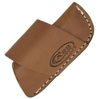 """Case Cutlery 50148 Brown Leather Side-Draw Belt Sheath for 3"""" Folding Knives"""