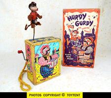 Mattel Hurdy Gurdy organ grinder & dancing monkey + original box 1951 SEE MOVIE