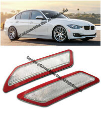 CLEAR BUMPER SIDE REFLECTOR FOR BMW 3-SERIES 13-15 F30 F31 MARKER LIGHTS CRYSTAL
