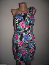 One Shoulder Party Floral Regular Size Dresses for Women
