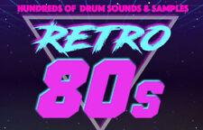 Retro 80s Drum sounds 1980s Drum Samples Kit Logic Pro X Final Cut Pro X EDM FL