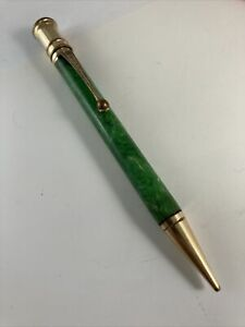 Jade Green Gold Trim  Parker Duofold Mechanical Pencil For Parts Or Repair