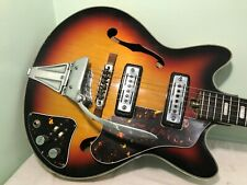 1960s Teisco Del Rey 335 Hollow Body Electric Guitar TREMOLO