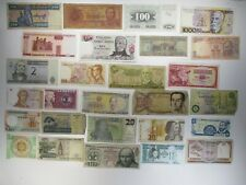 Junk Drawer Lot of 25 Mixed Foreign Banknotes Paper Money Collections & Lots