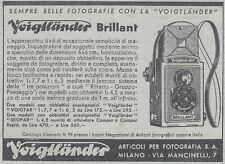 Y3551 Apparecchio fotografico Voigtlander Brillant - Pubblicità - 1937 old ad