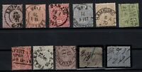 T4264/ GERMANY – NORTHERN FEDERATION – 1869 / 1871 USED CLASSIC LOT – CV 390 $