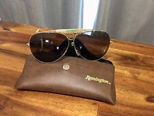 Vintage Remington Aviator Shooter Sunglasses Gray Lenses