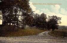Highland Park Connecticut Drive Scenic View Antique Postcard K57272