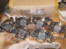 6 DUKE #2 COIL SPRING TRAPS RACCOON COYOTE BOBCAT FOX LYNX NEW SALE