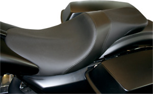 Danny Gray Black Leather Vinyl Weekday Seat for 08-19 Harley Touring FLHR FLHX